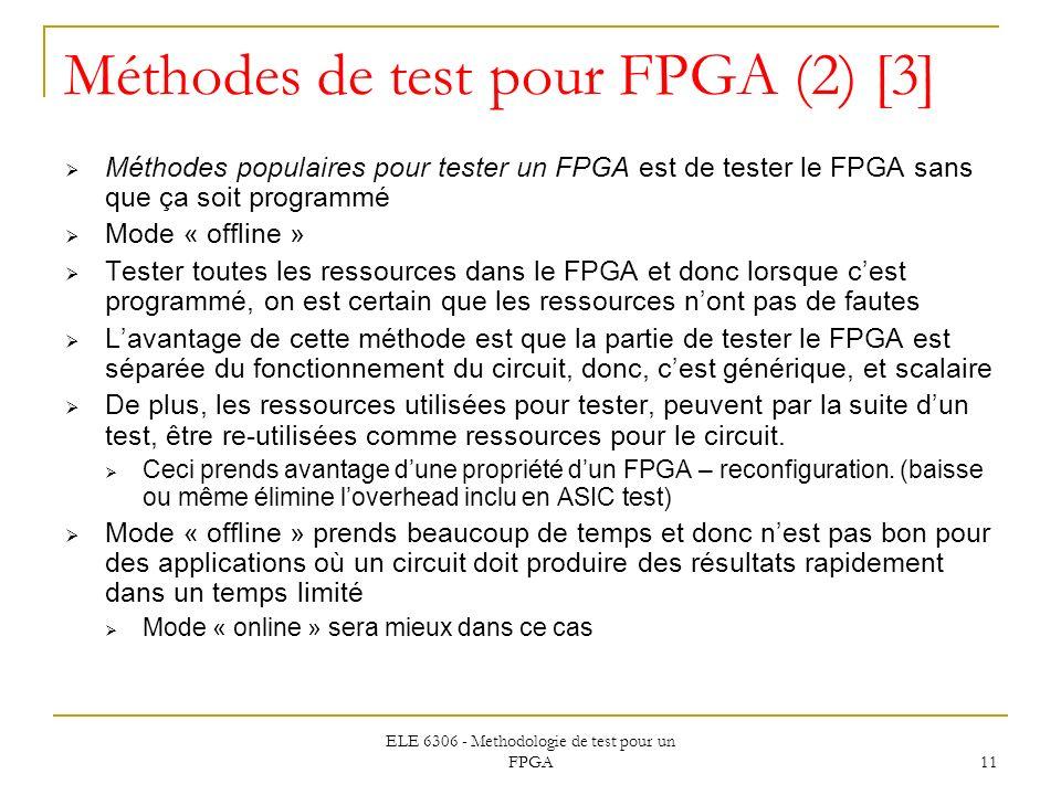 Méthodes de test pour FPGA (2) [3]
